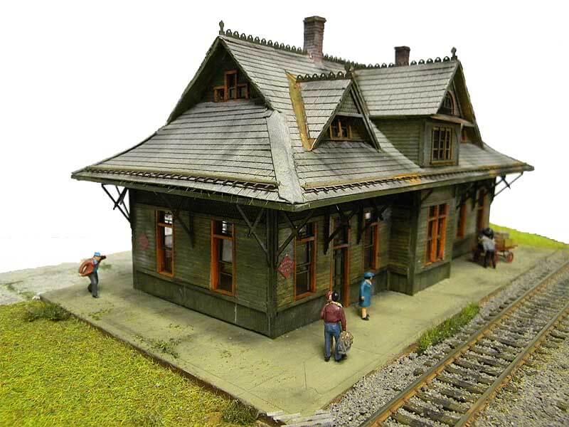 Back Train Station Model