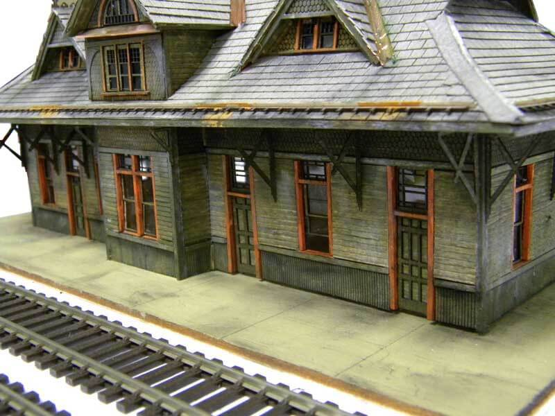 Close Train Station Model view with no dummy